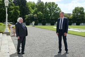 President Michael D. Higgins and Tony Duffin