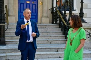 Tony Duffin CEO of Ana Liffey Drug Project and Lord Mayor of Dublin, Councillor Alison Gilliland